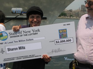 Sharon Miltz from of Flatbush, Brooklyn who won $2,000,000 on the $2,000 a Week for Life Instant Ticket.