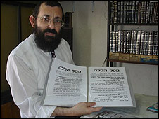 Rabbi Luft says modern music can corrupt young people. Photo Credit BBC News