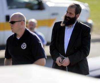 Federal agents escort Sholom Rubashkin. [Photo Credit: Jonathan D. Woods/The Gazette]