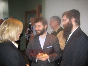 Chabad Shluchim Chanoch Hecht, of Chabad of Dutchess County and Avrohom Boruch Itkin, of Chabad of Greene County meet with the newly appointed Junior Senator of NY, Kirsten Gillibrand in Albany.