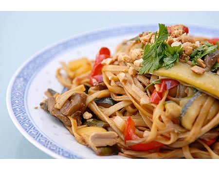 Stir-fried meat noodles, with cheese [file photo]