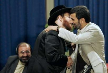 the notorious photo of Rabbi Freidman hugging and passionately kissing Iranian president at the Holocaust denial conference caused uproar  in the Jewish community, and gained international media attention
