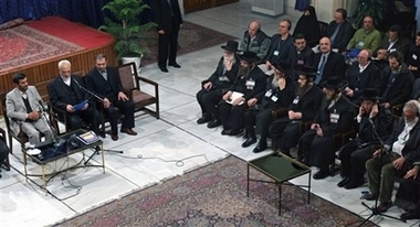 Neturi Karta attending at the Holocaust denial conference in Iran in 2007