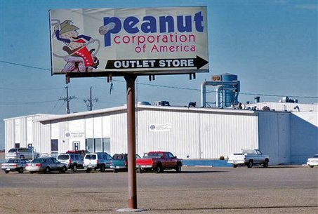 the Peanut Corporation of America processing plant in Plainview, Texas, that voluntarily suspended operations, Tuesday, Feb. 10, 2009, while state and federal health officials complete an investigation into procedures and food safety records there. Peanut Corp. closed its Blakely, Ga., plant last month after federal investigators identified it as the source of the salmonella outbreak