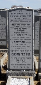 The grave site of Ari Halberstam Hyd