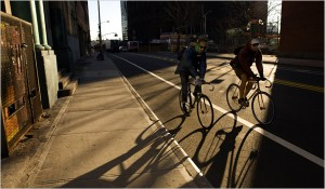 Residents have criticized the Kent Avenue bike lanes in Williamsburg,