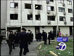 Passover fire in 2005 at the Bedford Gardens that killed three orthodox Jewish children in Williamsburg, Brooklyn.