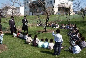 Kiryas Joel school boys playing