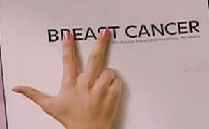 campaign pamphlet to inform woman on breast cancer and how to beat it
