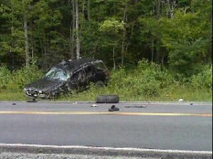 Vehicle involved in crash