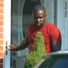 Baron alleged mastermind of the scam, leaves his Elmont, L.I., home file photo 2007