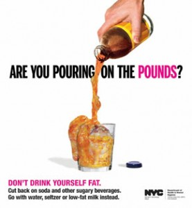 Makers of soft drinks claim the citys graphic new subway ads aimed at fighting obesity have unfairly singled out their products.