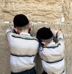 Two brothers pray at Kotel