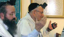 The ChalbanRav Chaim Ezra Hakohen Fatchia (R) Rabbi Yitzchak Basri (L)