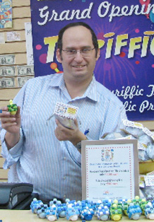 Yossi Gross, owner of Toyriffic, Flatbushs newest modern Toy Store, located at 2919 Avenue I, between Nostrand Avenue and East 29th Street