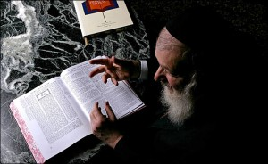 Rabbi Nosson Scherman, editor of the new 73-volume English translation of the complete Talmud. Vincent Laforet/The New York Times