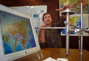 Eric Calais, a professor of geophysics at Purdue University. Calais presented findings in May 2008 to Haitian officials of his research suggesting that based on GPS measurements along the fault that runs through Haiti that it held the potential for a 7.2 magnitude quake.