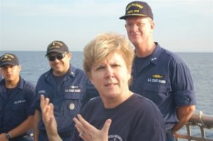 Deputy Secretary Jane Holl Lute with U.S. Coast Guard [FILE]