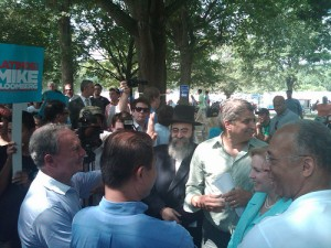 Rabbi David Niederman of UJO Williamsburg attended political event with Mayor Bloomberg and other dignitarys