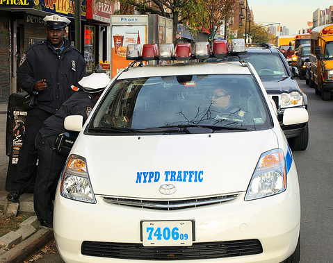 Nypd Toyota Prius Traffic Enforcement Police Car Inwood New York City