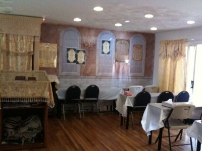 the temporary shul