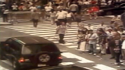 This 4x4 was left in Times Square containing petrol cans, fireworks and timers