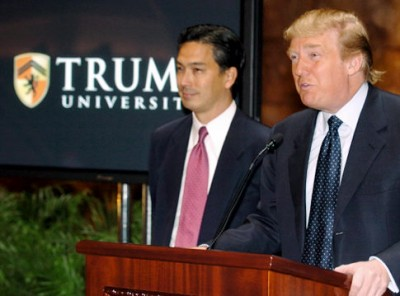 Donald Trump with Michael Sexton, President of Trump University. (B. Smith for Daily News)