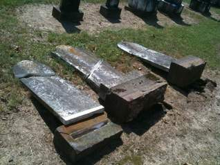 Vandals overturned at least nine Jewish graves in Shreveport's historic Oakland Cemetery this weekend (on May 15, 2010, police say). The culprits could face hate crime charges.  (Adam Kealoha Causey/The Times)