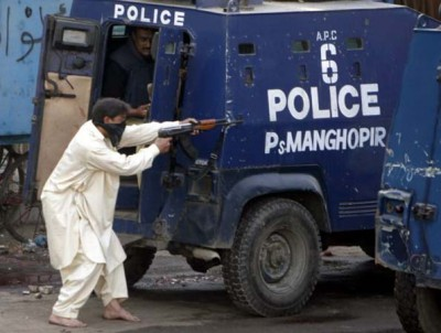 File photo of Karachi Police in action