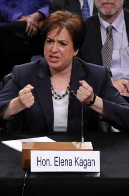 US Supreme Court nominee Elena Kagan testifies before the Senate Judiciary Committee on day two of her Supreme Court confirmation hearing in the Hart Senate Office Building in Washington, DC, USA on 29 June, 2010. President Barack Obama nominated Kagan to fill the vacancy from retiring Justice John Paul Stevens.  EPA/TONI L. SANDYS