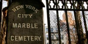 Explosives were found at  a Lower East Side cemetery.