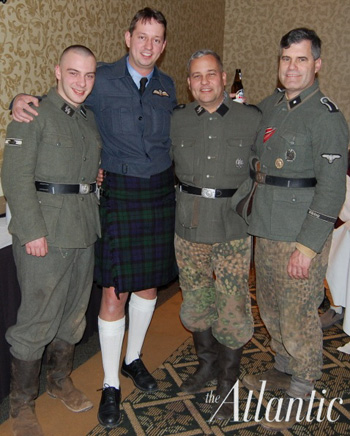 Rich Iott, second from right, in a Nazi SS Waffen uniform.