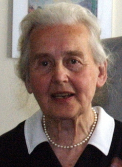 The woman, identified as Ursula Haverbeck-Wetzela a former chairwoman of the outlawed far-right group Collegium Humanum
