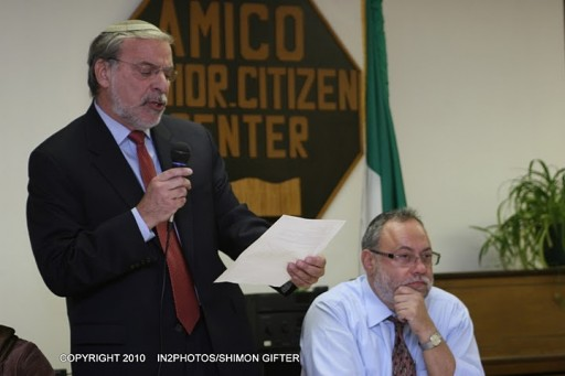 Speaking at the Community Board 12 meeting last night, Assemblyman Dov Hikind