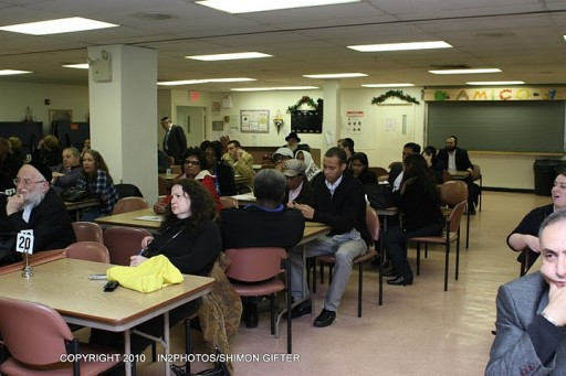 Local residence attend Community Board 12 meeting last night