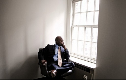 Today, Jabbar Collins works as a paralegal at the Law Offices of Joel B. Rudin in Manhattan. But for 15 years, he sat in prison, convicted of the 1994 murder of Rabbi Abraham Pollack. Mr. Collins, who maintained his innocence, spent much of those 15 years in a computerless prison law library. Mustafah Abdulaziz for The Wall Street Journal