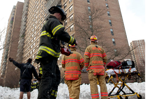 Shari Pasternak, 50, was trapped in her 22nd-floor Coney Island apartment when the fire broke out just before 7:30 a.m., officials said. Photo: NY daily news, Marino