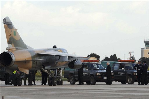 Valletta, Malta - Two Libyan air force jets have arrived in Malta and