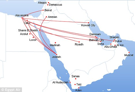 Cairo Egyptian Airline Erases Israel From Its Route Maps - Map of egypt to israel