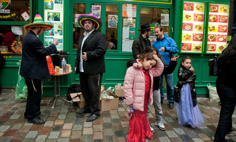 Orthodox Jews in the Marais district of Paris where John Galliano allegedly made his comments. Photograph: Alamy