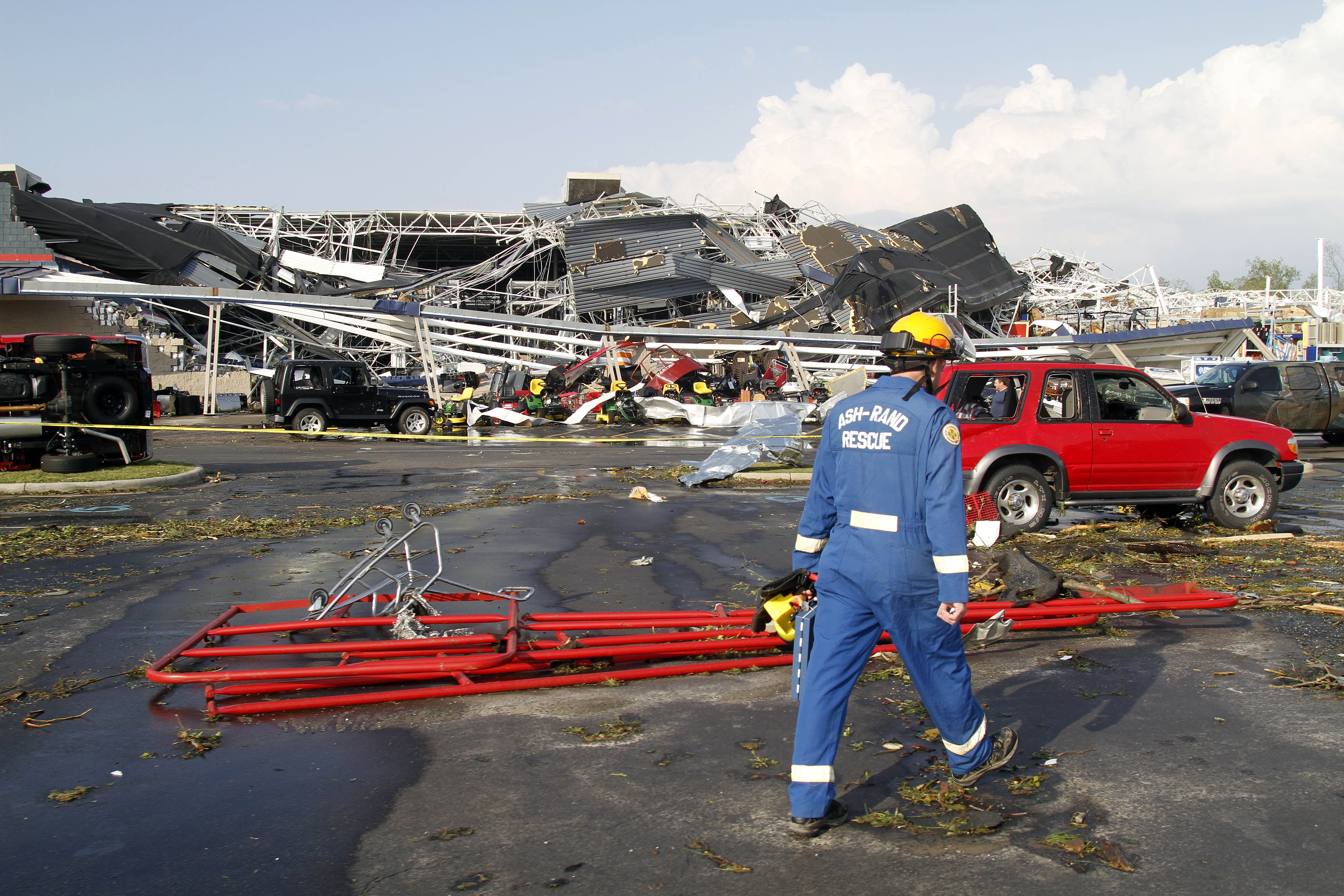 Sanford, NC - Lowe's Dept  Store Flattened In North Carolina By