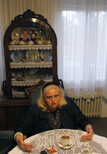Ana Frenkel, an activist of the Simon Wiesenthal Center speaks during an interview to The Associated Press in Novi Sad, some 80 kilometers (50 miles) north of Belgrade, Serbia, Tuesday, May 17, 2011. The trial of the 97-year-old Former Hungarian gendarmerie captain Sandor Kepiro was temporarily halted last week in Budapest, Hungary, over claims that the defendant was partially deaf and mentally incapable of following the court proceedings which started a week earlier. Frenkl which tracked Kepiro down and listed him as the world's most wanted Nazi, said that after the raid, the Jewish population of Serbia's second largest city was reduced to some 200 people. (AP Photo/Darko Vojinovic)