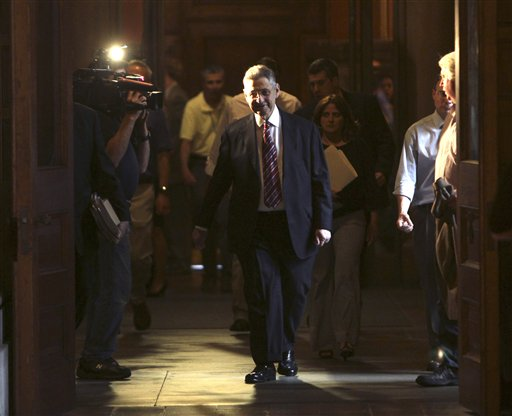 Assembly Speaker Sheldon Silver, D-Manhattan, leaves Gov. Andrew Cuomo's office after a meeting at the Capitol in Albany, N.Y., on Thursday, June 23, 2011. AP