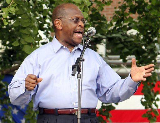 Republican presidential candidate Herman Cain speaks at a campaign rally in Murfreesboro, Tenn., on Thursday, July 14, 2011. Cain told reporters afterward that he opposes a planned mosque that has been the subject of protests and legal challenges. (AP Photo/Erik Schelzig)