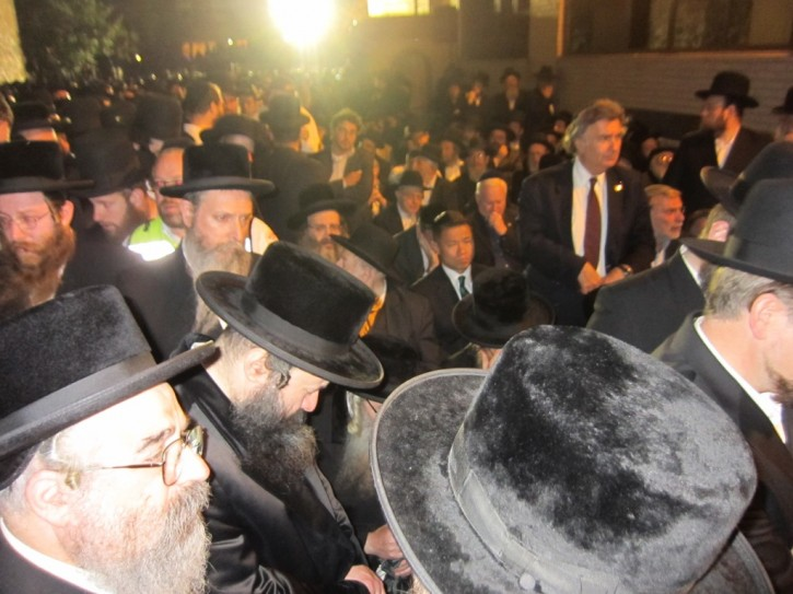 NYC Comptroller can bee seen with NYS Assemblymen Dov Hikind