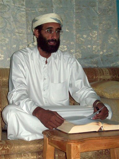 File - This October 2008 file photo by Muhammad ud-Deen shows Imam Anwar al-Awlaki in Yemen. Yemen's Defense Ministry said in a statement Friday Sept. 30, 2011 the U.S.-born al-Qaida cleric Anwar al-Awlaki has been killed.  (AP Photo/Muhammad ud-Deen, File)   MANDATORY CREDIT  NO SALES