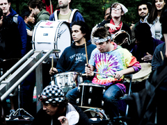 The drumming circle at Occupy Wall Street has drawn complaints from neighbors. (Flickr/kennyysun)