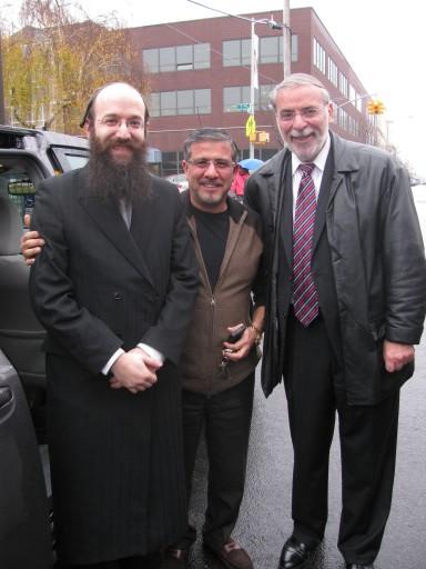 (L-R): Israel Pinter, John Giuffre, Assemblyman Hikind