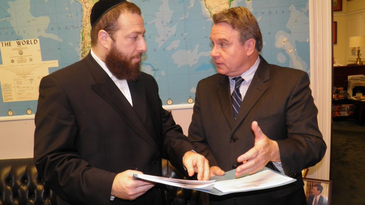 Ezra Friedlander with Congressman Chris Smith,  who is the dean of  the New Jersey congressional delegation and Chairman of the US Helsinki Commission