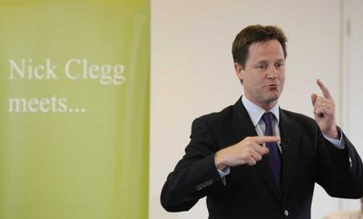 EPA FILE - British Deputy Prime Minister, Nick Clegg speaks to a radio audience in London, Britain, 08 August 2011.